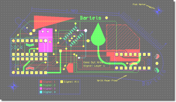 BAE Version 7.2: Layout Editor: View PCB Layout Component Side